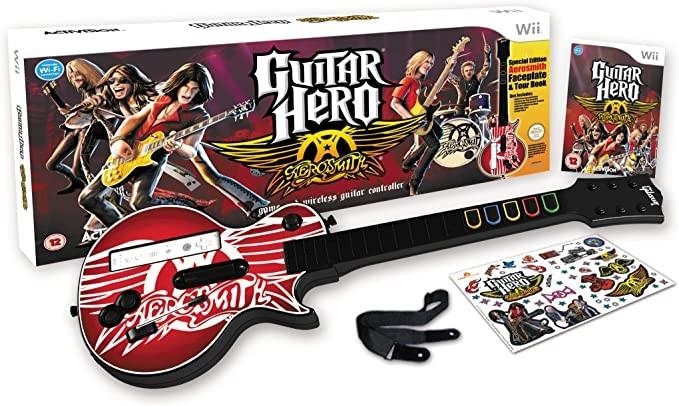 Guitar Hero: Aerosmith - Guitar Bundle (Wii): Amazon.co.uk: PC ...