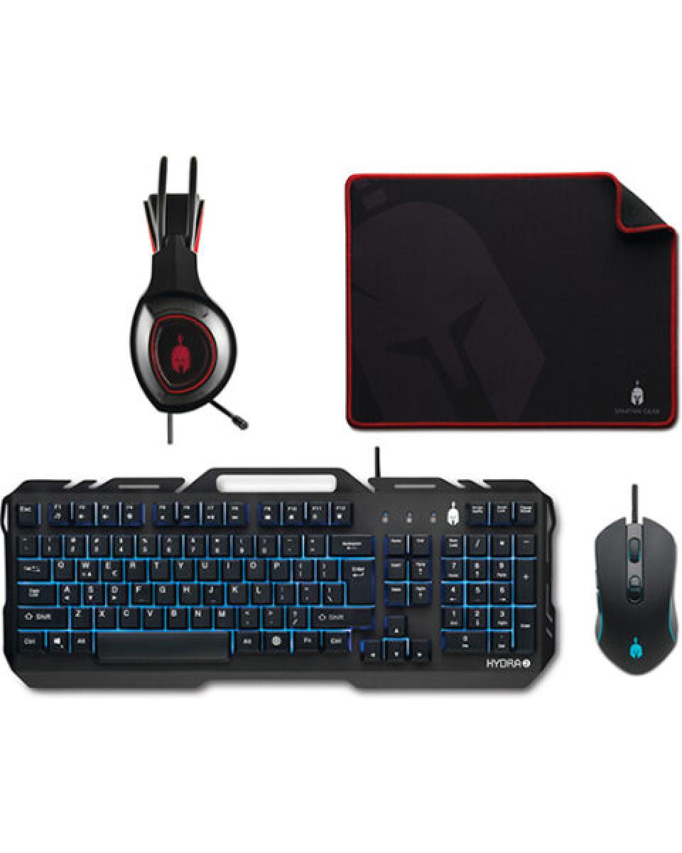 Spartan Gear Hydra 2 Gaming Combo (Tastatura + Miš + Slušalice + Podloga)