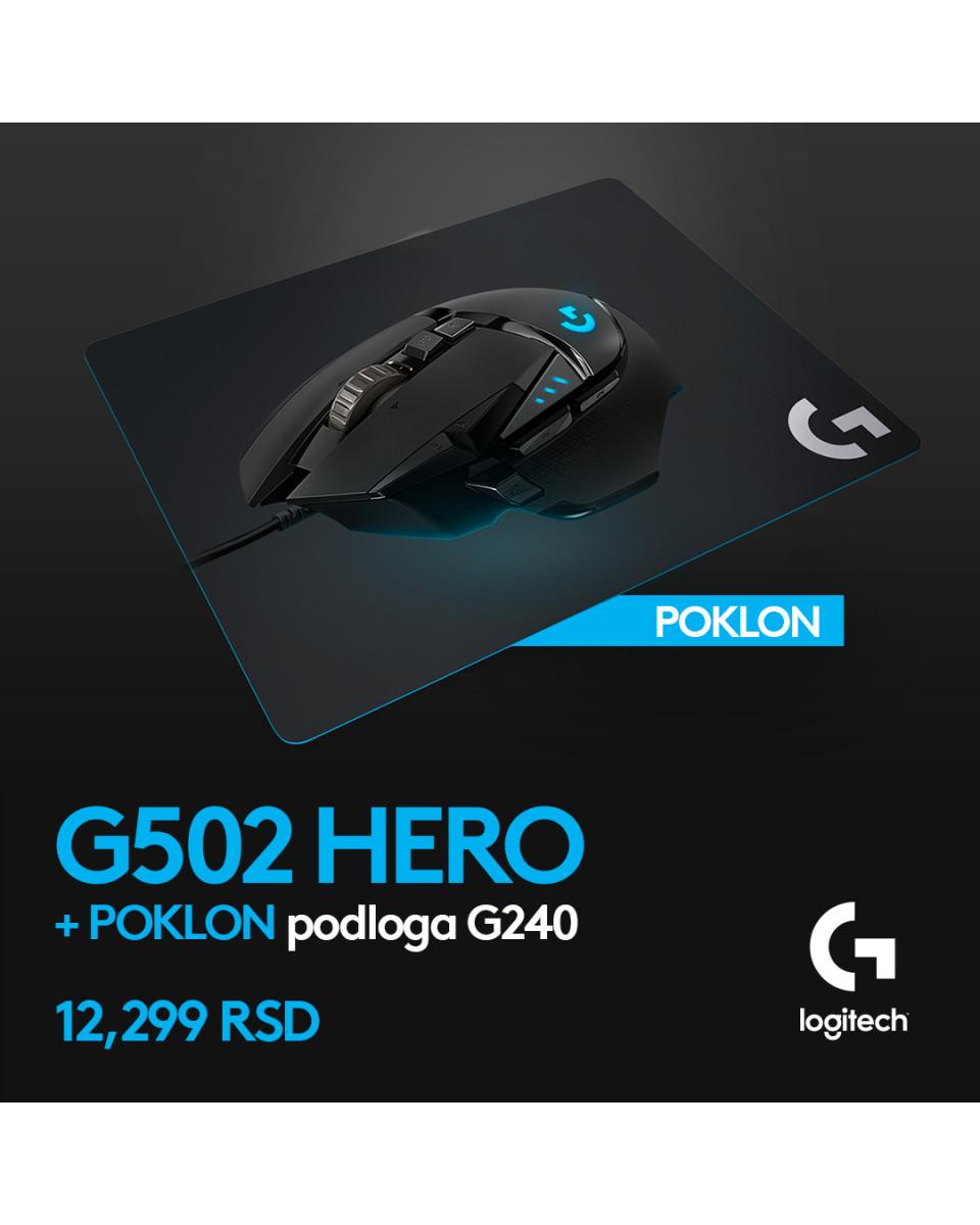 Miš Logitech G502 Hero + POKLON Podloga Logitech G240