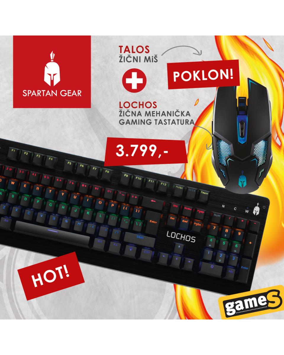 Tastatura Spartan Gear Lochos + POKLON Miš Spartan Gear Talos