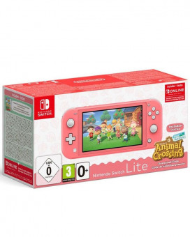 Konzola Nintendo Switch Lite - Coral + Animal Crossing