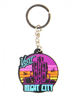 Privezak Cyberpunk 2077 Visit Night City PVC Multicolor