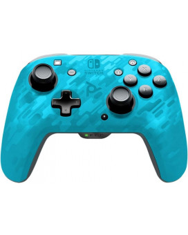 Gamepad PDP Faceoff Deluxe+ Wireless - Camo Blue