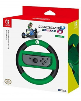 Nintendo Switch HORI Deluxe Wheel Attachment - Mario Kart 8 Deluxe - Luigi
