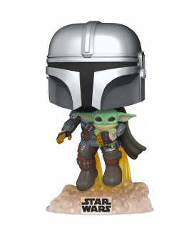 Bobble Figure Star Wars Mandalorian POP! - The Mandalorian with the Child