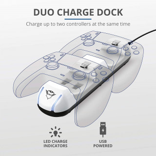 Trust GXT 251 Duo Charging Dock PS5