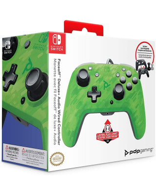 Gamepad PDP Faceoff Deluxe+ Camo Green
