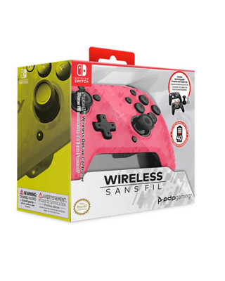 Gamepad PDP Faceoff Deluxe+ Wireless - Camo Pink