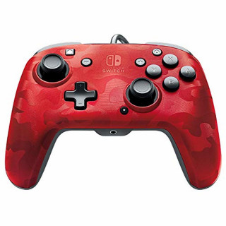 Gamepad PDP Faceoff Deluxe+ Camo Red
