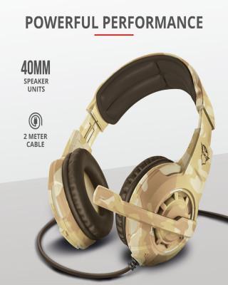 Slušalice Trust GXT 310D Radius - Desert Camo