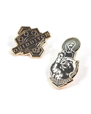 Pin Kings Harry Potter Enamel Pin Badge Set 1.2 - Quidditch & Crookshanks