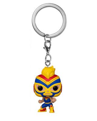 Privezak Pocket Pop! Marvel Lucha Libre - Captain Marvel