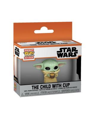 Privezak Star Wars Mandalorian Pocket POP! - The Child With Cup