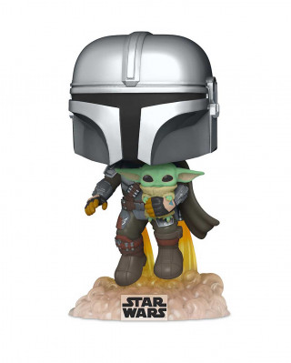 Bobble Figure Star Wars Mandalorian POP! - The Mandalorian with the Child