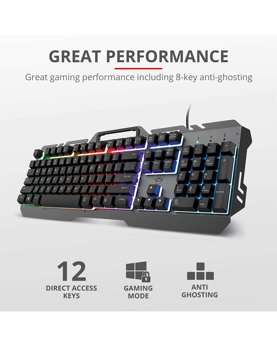 Tastatura Trust GXT 853 Esca Metal
