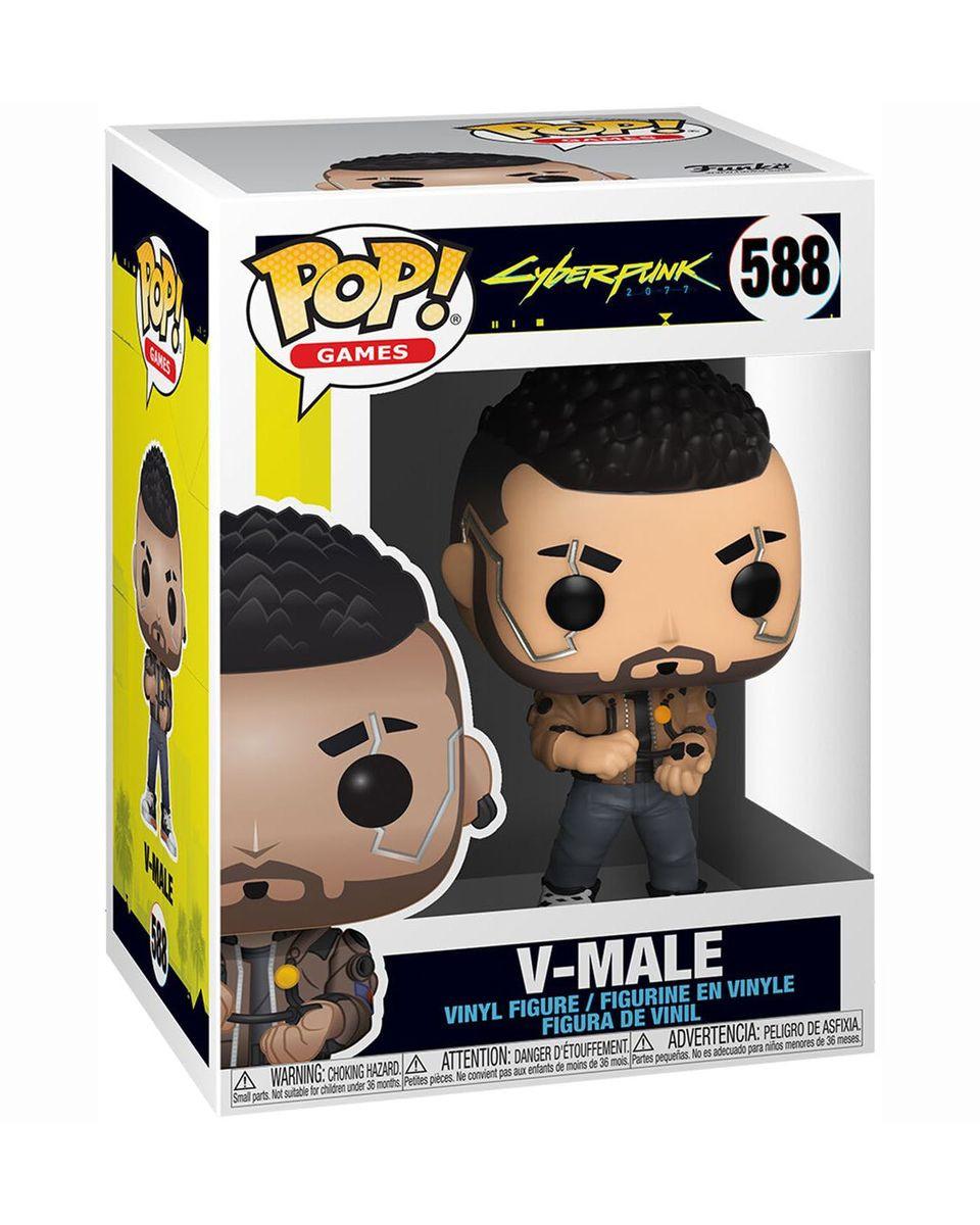 Bobble Figure Cyberpunk 2077 Pop! - V-Male