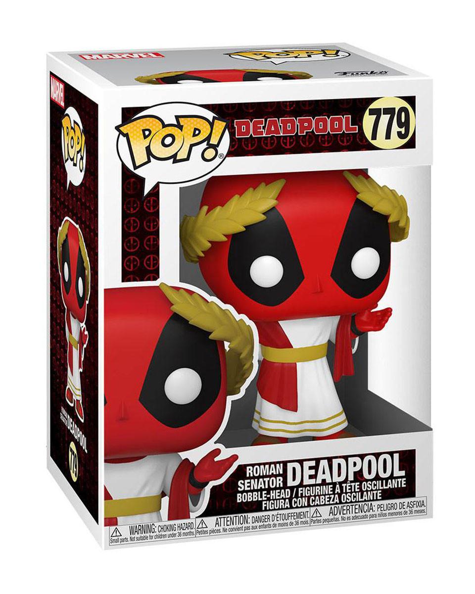 Bobble Figure Deadpool POP! - Roman Senator Deadpool