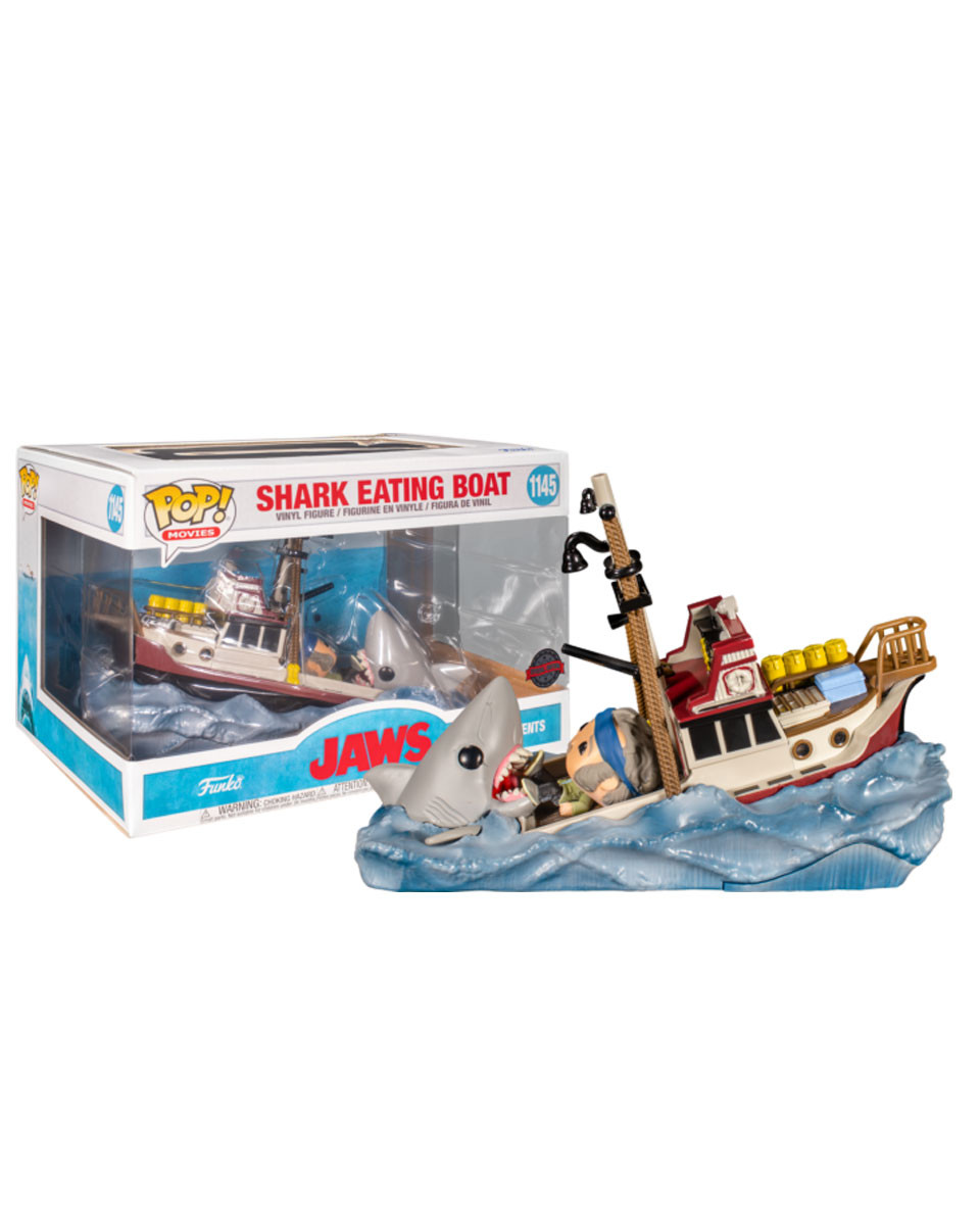 Bobble Figure Movies POP! - Shark Eating Boat - Jaws