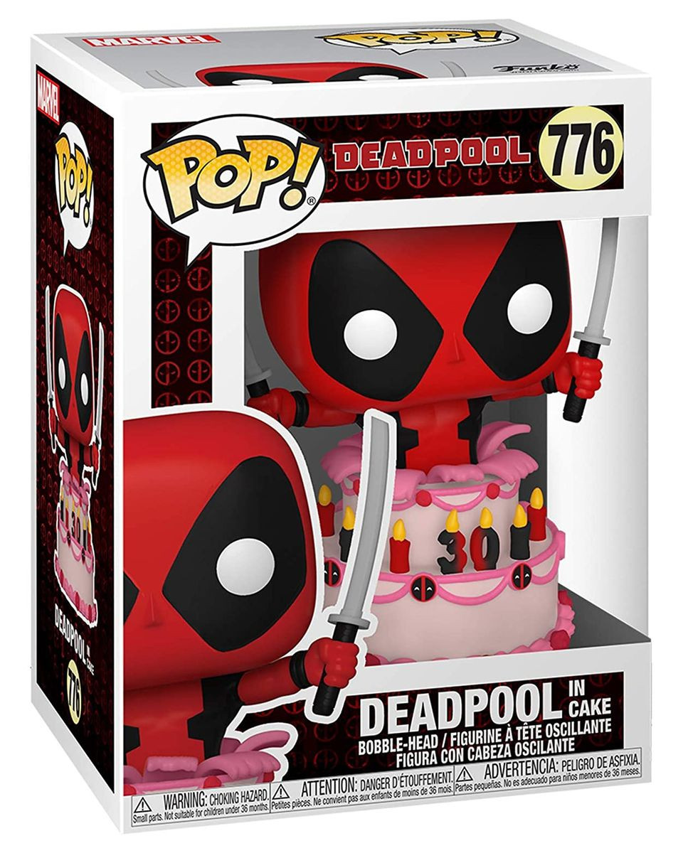 Bobble Figure Deadpool POP! - Deadpool in Cake