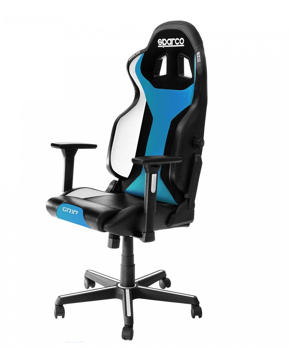 Gaming Stolica Sparco GRIP Black / Blue Sky