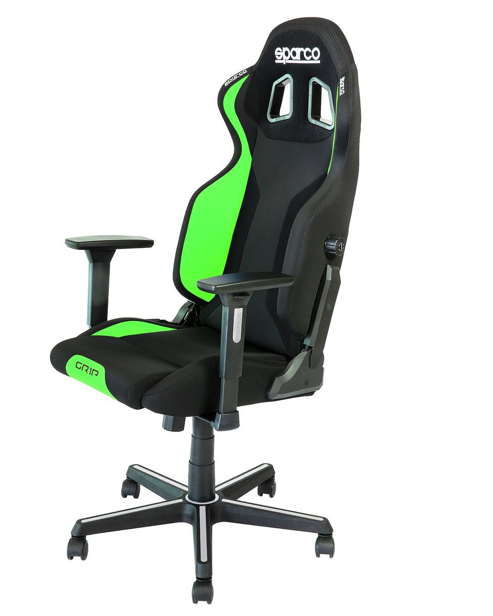 Gaming Stolica Sparco GRIP Black / Fluo Green