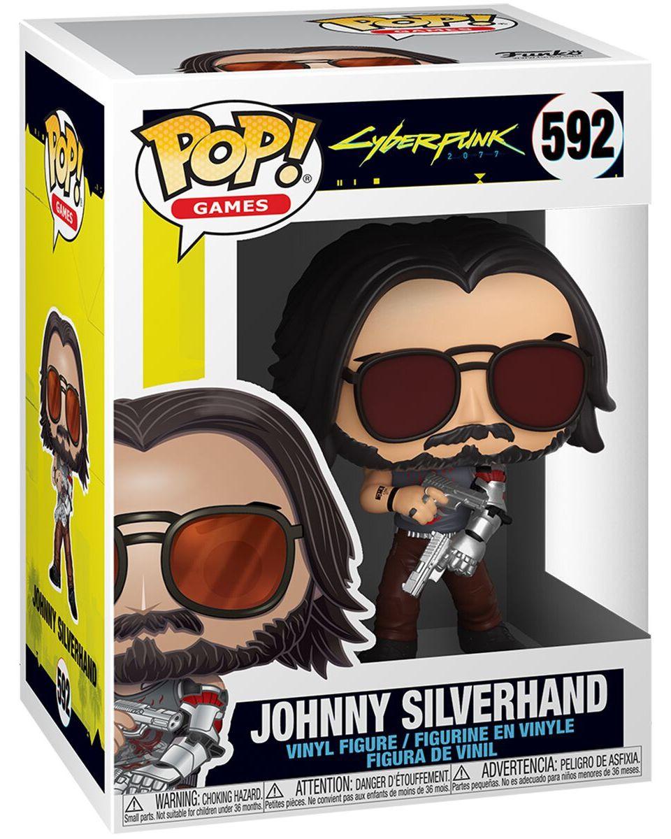 Bobble Figure Cyberpunk 2077 POP! - Johnny Silverhand with Guns