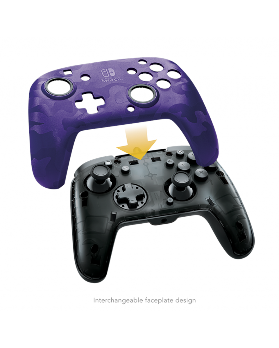 Gamepad PDP Faceoff Deluxe+ Camo Purple