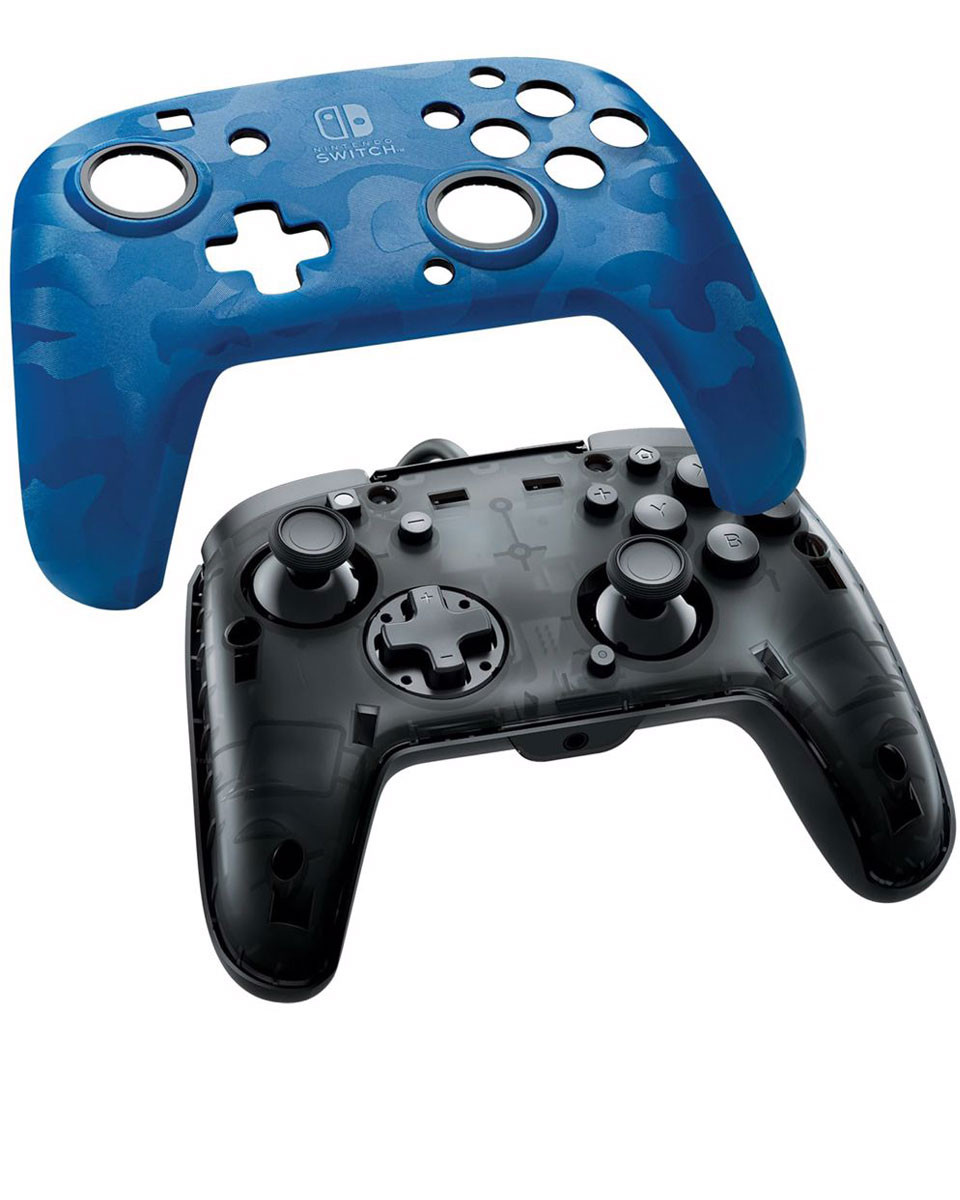 Gamepad PDP Faceoff Deluxe+ Camo Blue