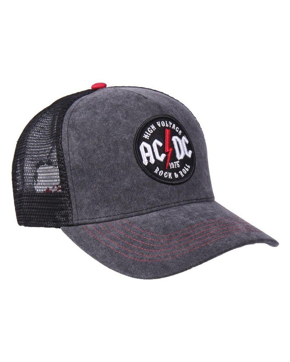 Kačket ACDC - Grey/Red
