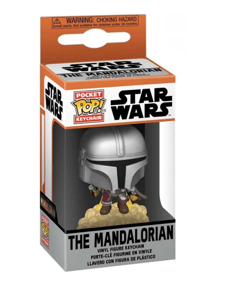 Privezak Star Wars Pocket POP! - The Mandalorian With Booster