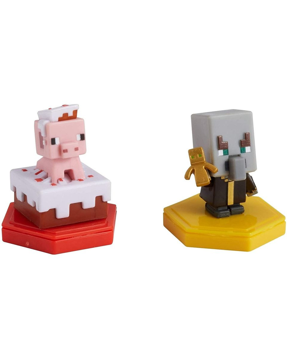 Mini Figure Minecraft - Pigging Out Pig And Undying Evoker