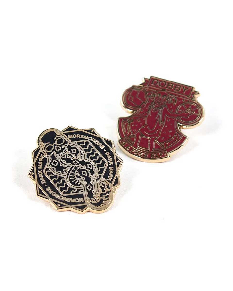 Pin Kings Harry Potter Enamel Pin Badge Set 1.3 - Dark Mark & Dobby