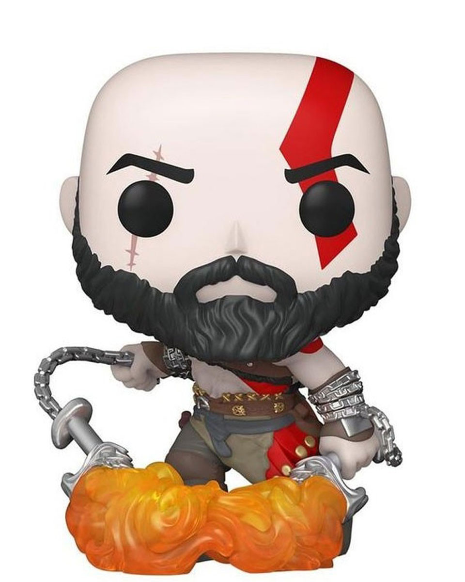 Bobble Figure PlayStation Pop! - Kratos With The Blades of Chaos