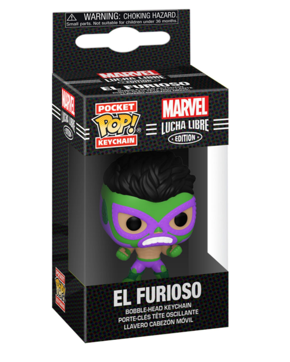 Privezak Pocket Pop! Marvel Lucha Libre - Hulk