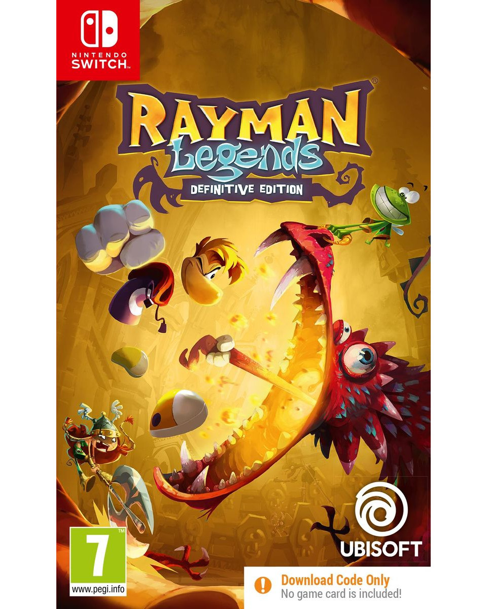 Switch Rayman Legends - Definitive Edition - Code In A Box