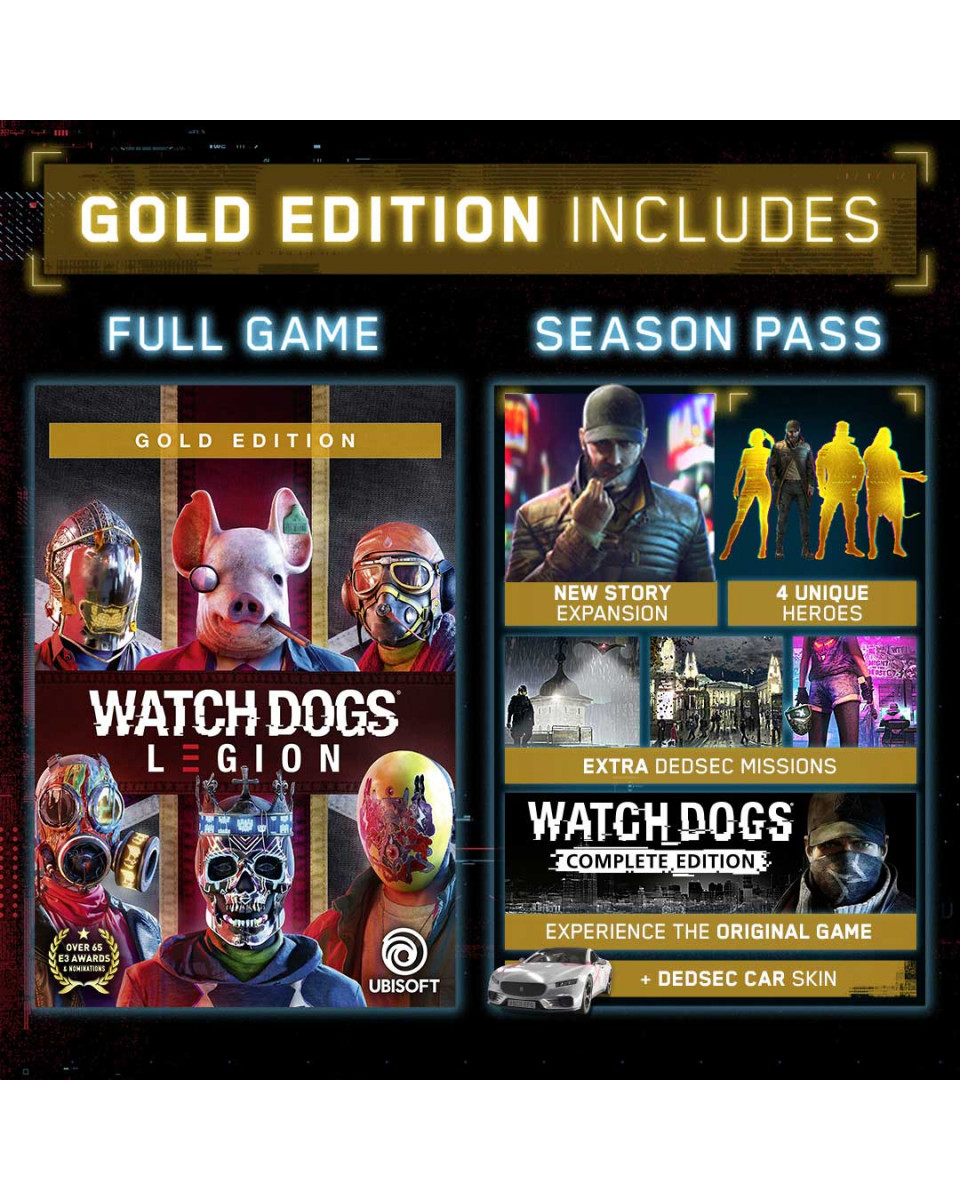 XBOX ONE Watch Dogs - Legion Gold Edition