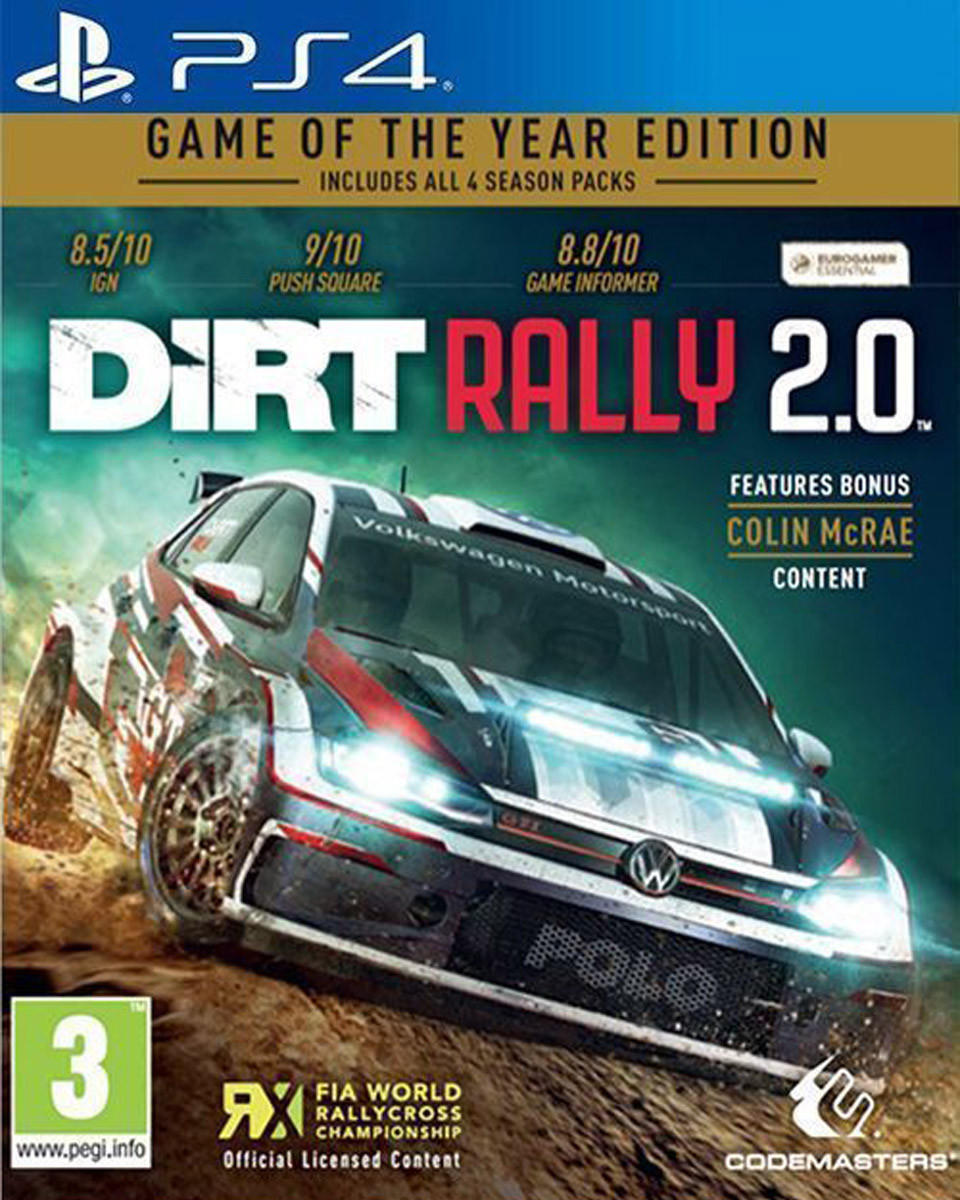 PS4 Dirt Rally 2.0 - Game Of the Year Edition
