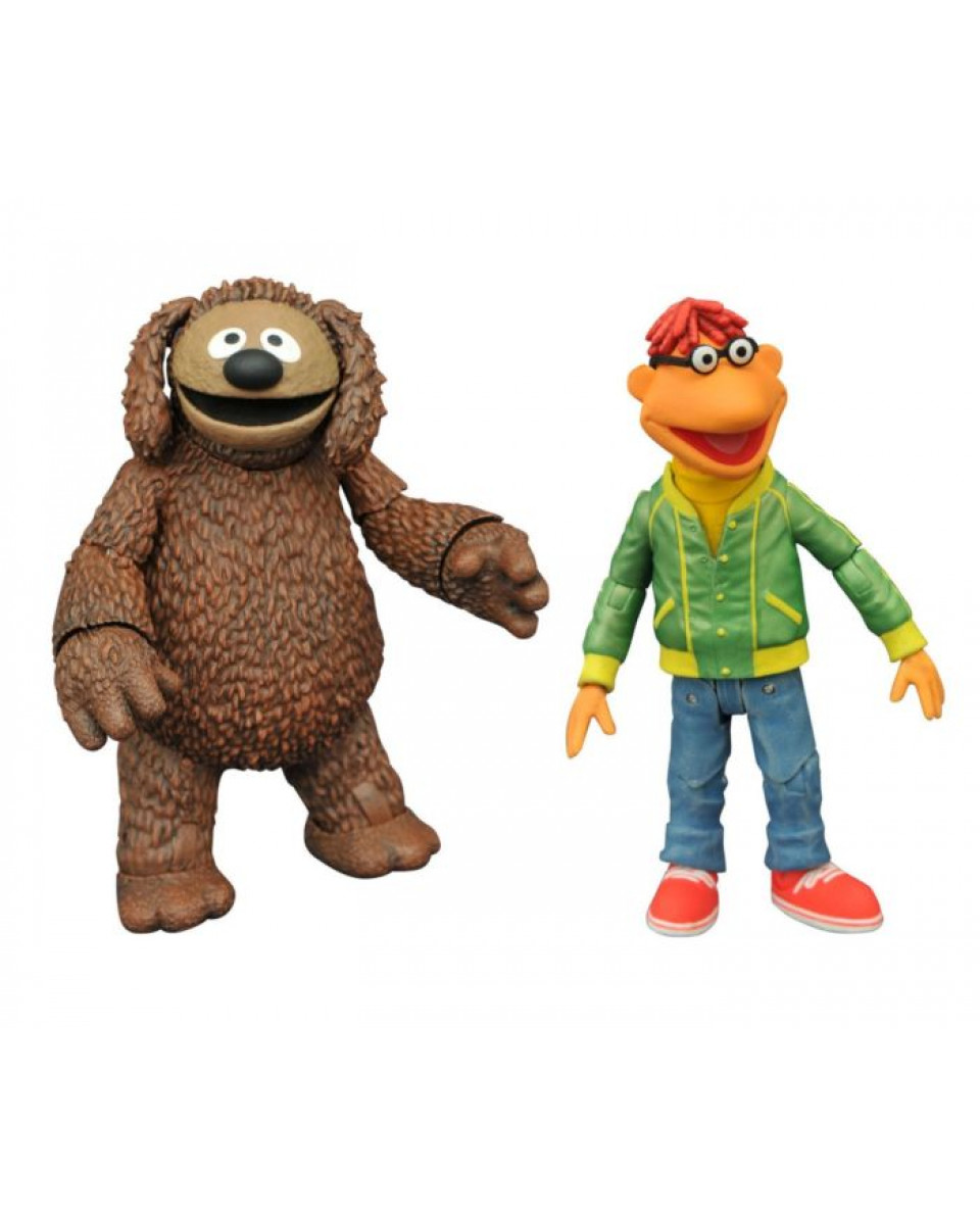 Action Figure Disney The Muppets - Rowlf and Scooter