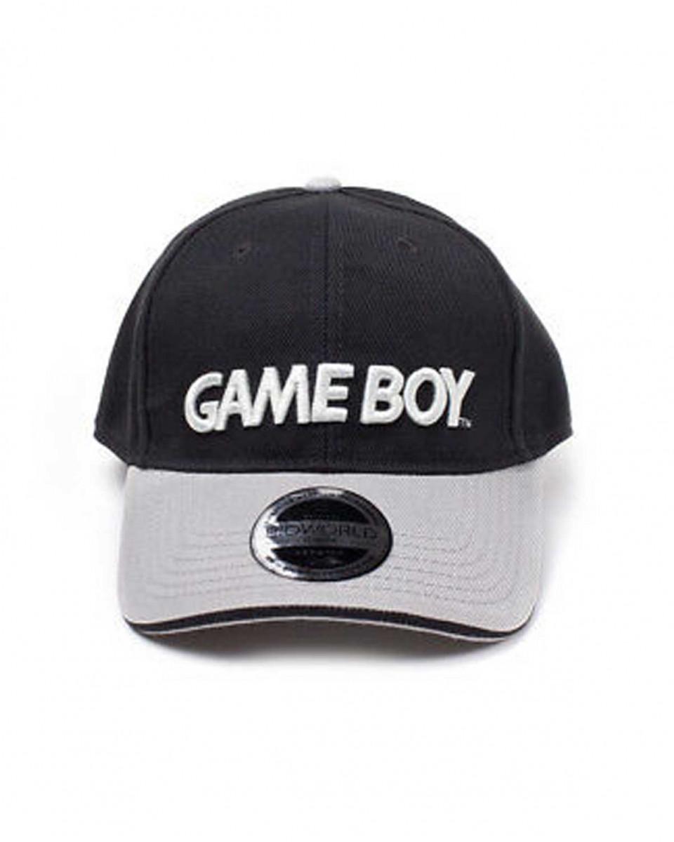 Kačket Nintendo - Black/Grey Gameboy Logo Curved Bill