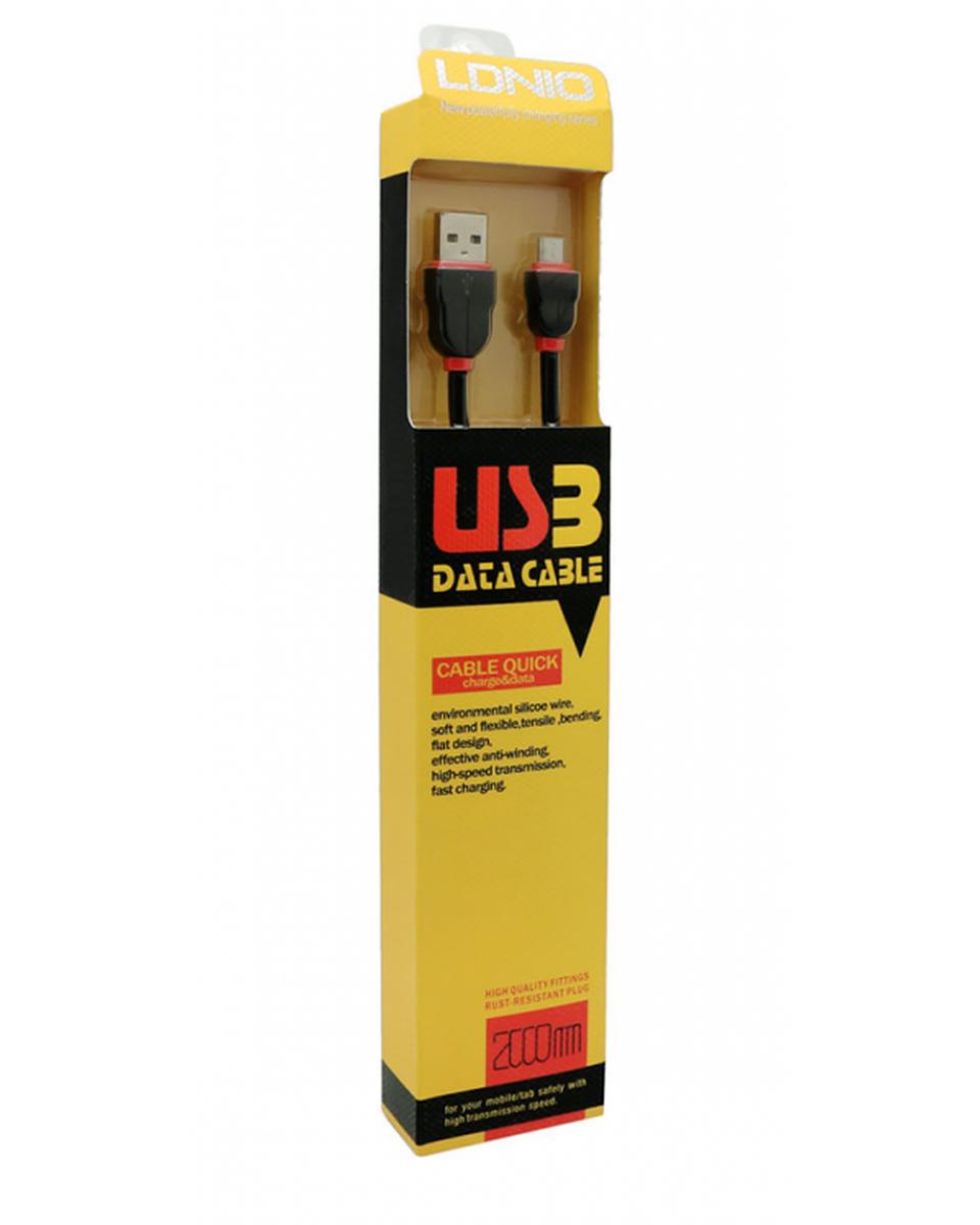 Kabl LDNIO Micro USB - 2m - Black / Red