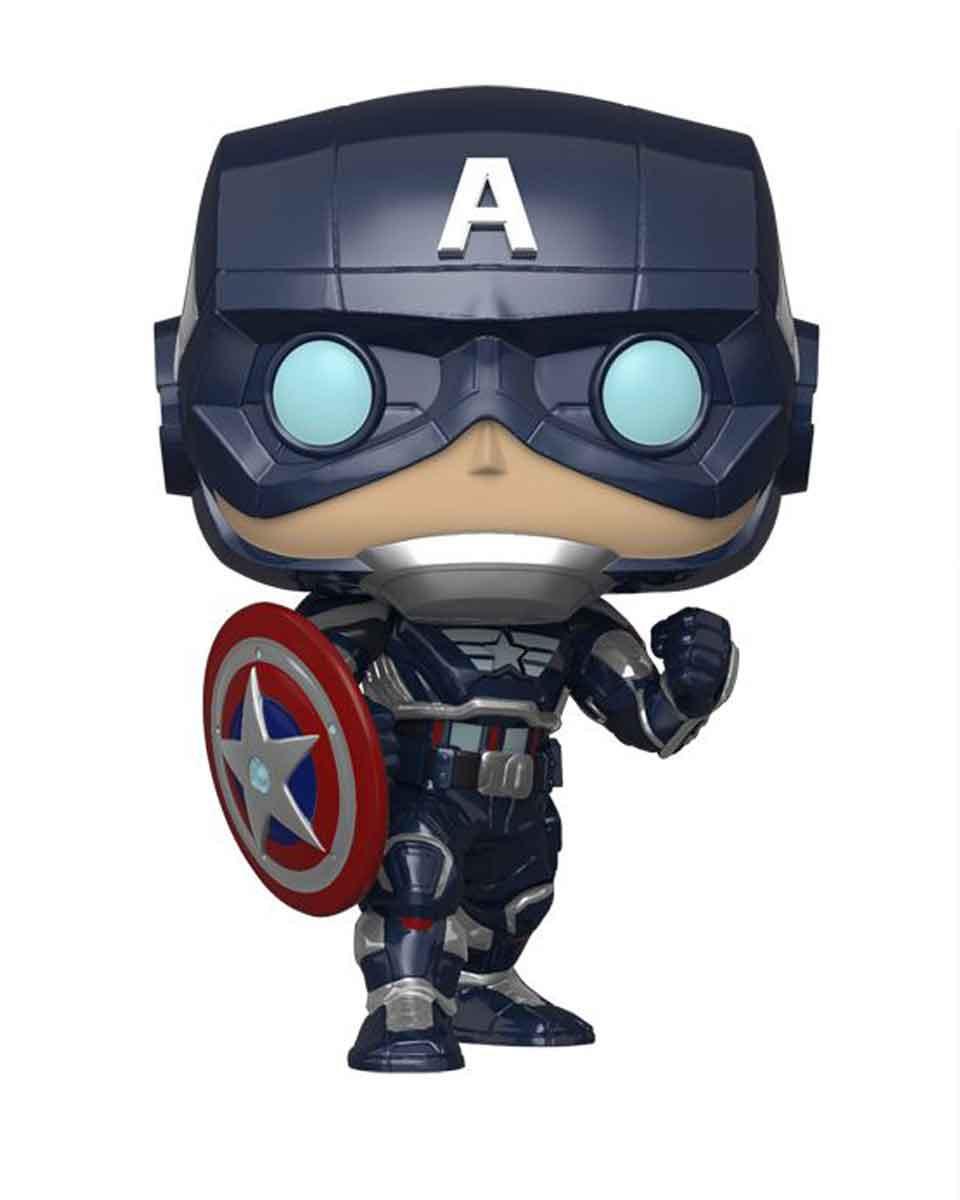 Bobble Figure Marvel Avengers Gameverse - Captain America ( Stark Tech Suit )