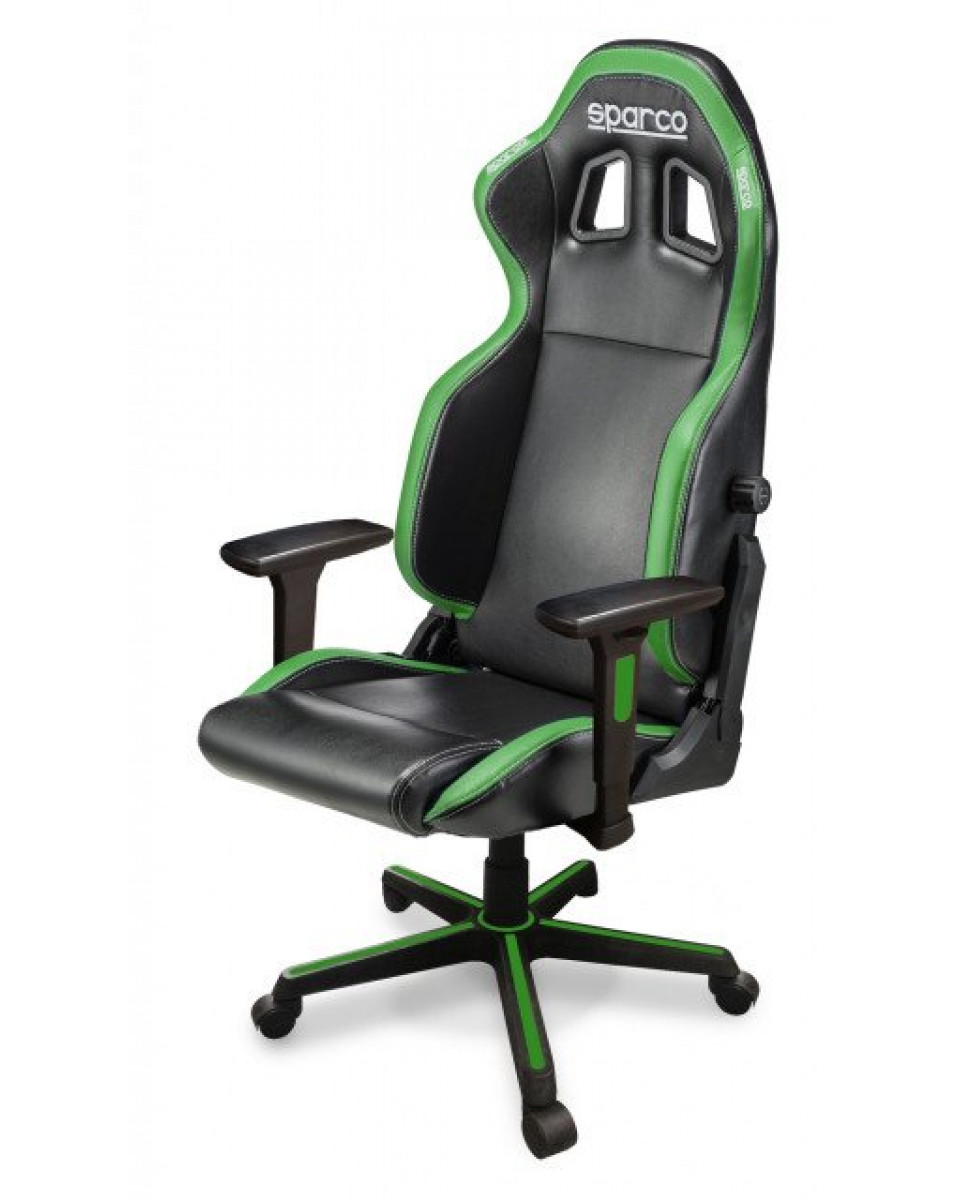 Gaming Stolica Sparco ICON Black / Fluo Green