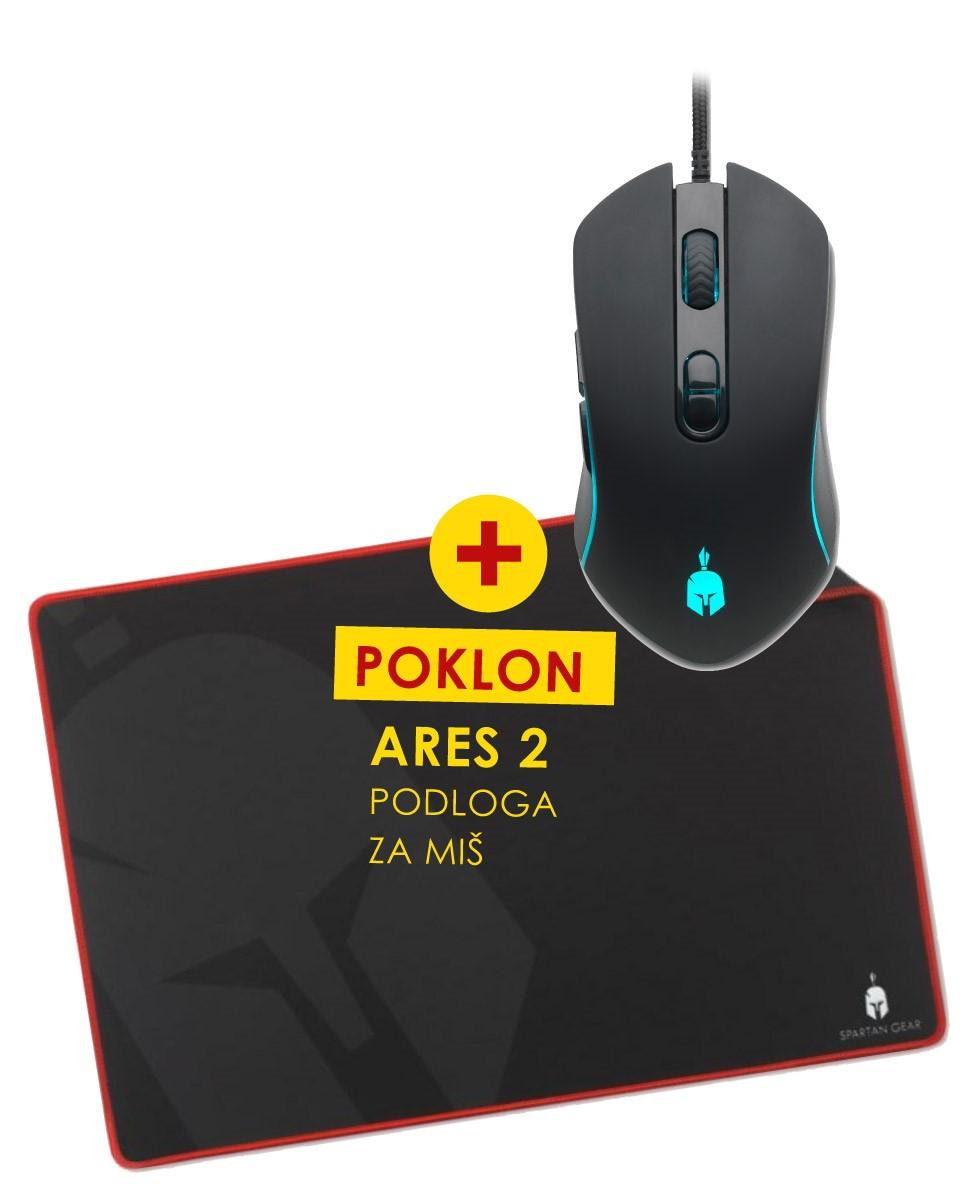 Miš Spartan Gear Peltast + Podloga Ares 2