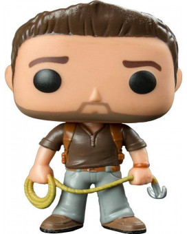 Bobble Figure Uncharted POP! - Nathan Drake ( Brown Shirt ) 9cm