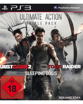 PS3 Ultimate Action Pack - (Just cause 2 + Sleeping Dogs  + Tomb Raider)