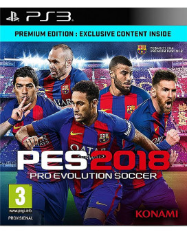 PS3 Pro Evolution Soccer 2018 - PES 2018