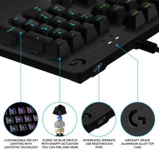 Tastatura Logitech G513 - GX Blue Clicky Switch - Carbon