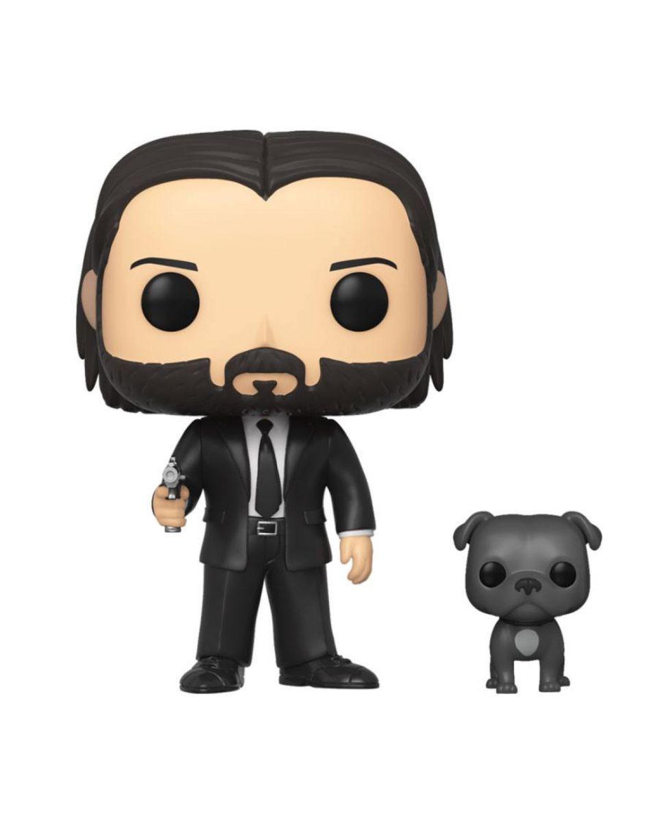 Bobble Figure John Wick POP! Movies - John Wick in Black Suit with Dog