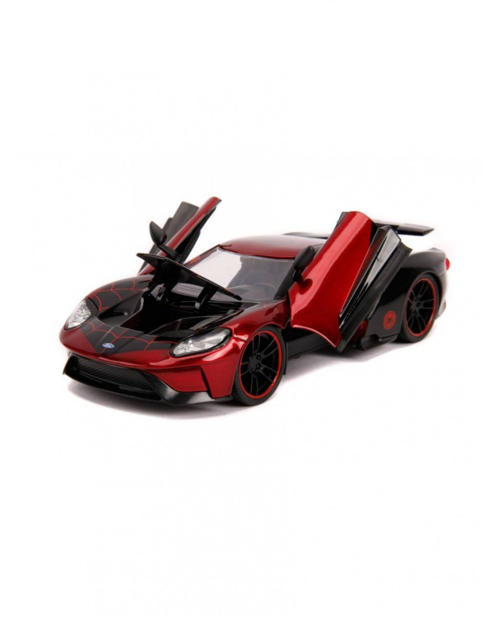 Diecast Model Marvel Hollywood Rides 1/24 - 2017 Ford GT with Miles Morales Figure