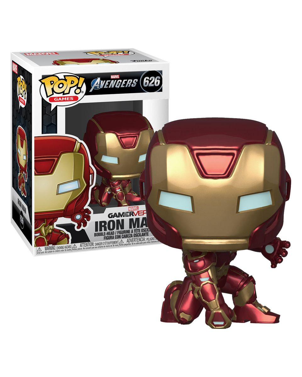 Bobble Figure Marvel Avengers Gameverse - Iron Man ( Stark Tech Suit )
